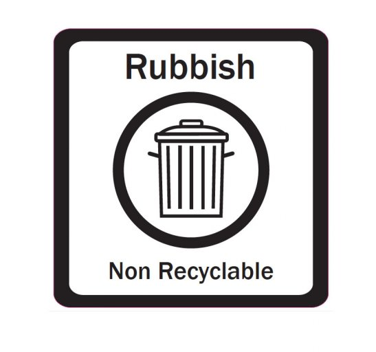 Transparent And Black Recycling Labels Total Bins