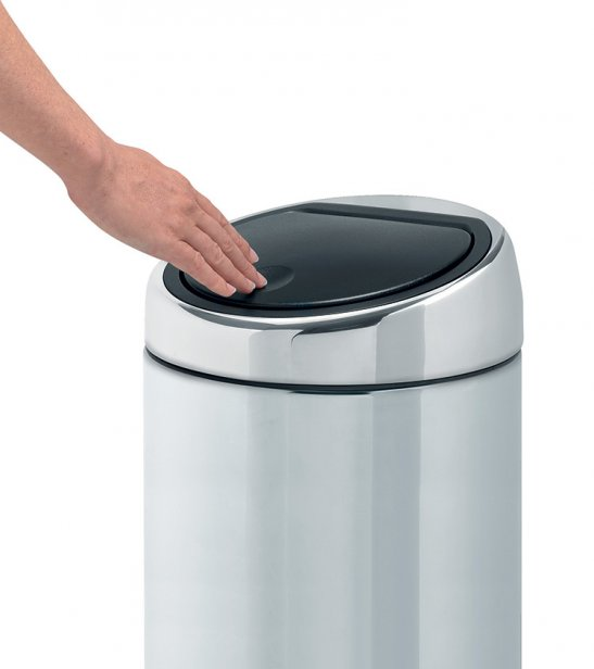 brabantia 20l touch bin total bins. Black Bedroom Furniture Sets. Home Design Ideas